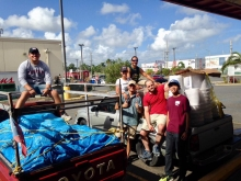 Sustainability Projects Abroad (SPA) student group members in Puerto Rico