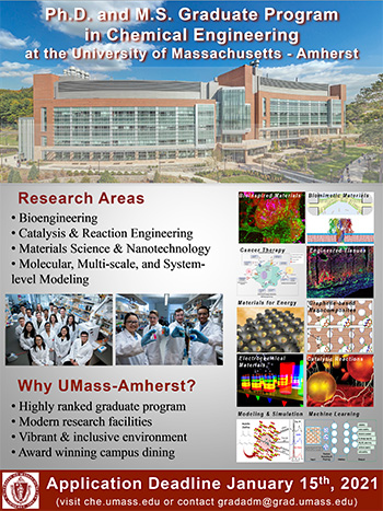 UMass Chemical Engineering 2020 Graduate Flyer image - 350 pix
