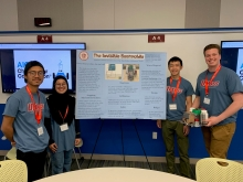 AIChE students with research poster