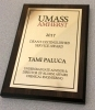 College of Engineering Dean's Service Award Plaque awarded to Tami Paluca in 2017